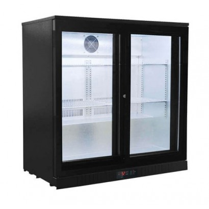 Kool BB2S Black Double Sliding Door Bottle Cooler