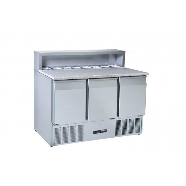 Blizzard BCC3PrepGranite 3 Door Granite Top Compact Prep Counter