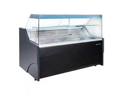 Blizzard BFG150BK 1.6m Flat Glass Serve Over Display Counter