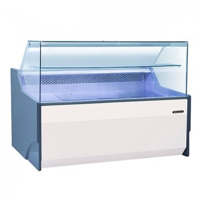 Blizzard BFG130WH 1.3m Flat Glass Serve Over Display Counter