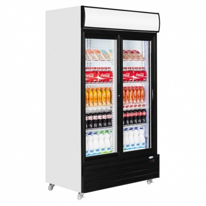 Interlevin CR1130S 1000 Litre Double Glass Door Merchandiser