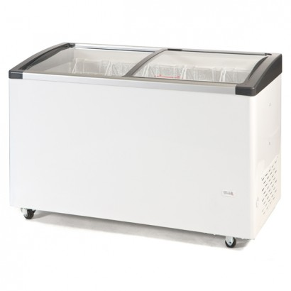Genfrost CSL130 309ltr Sliding Glass Lid Chest Freezer