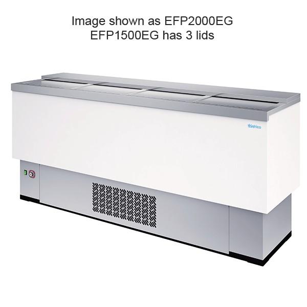 Infrico EFP1500WH 1.5m White Front Bar Chest Fridge