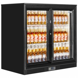 Elstar EM231S Double Sliding Door Bottle Cooler Black