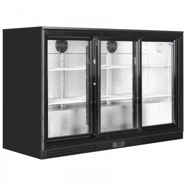 Elstar EM331S Triple Sliding Door Bottle Cooler Black