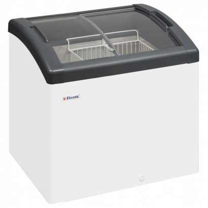 Elcold Focus 73 Sliding Curved Glass Lid Chest Freezer
