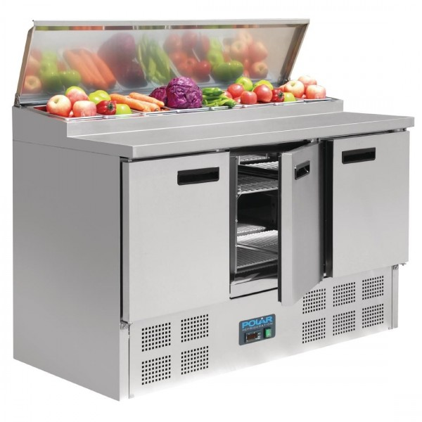 Polar 390 Litre Refrigerated Pizza and Salad Prep Counter