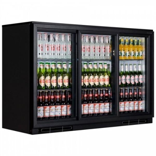 Genfrost GBB3S Triple Sliding Door Bottle Cooler Black