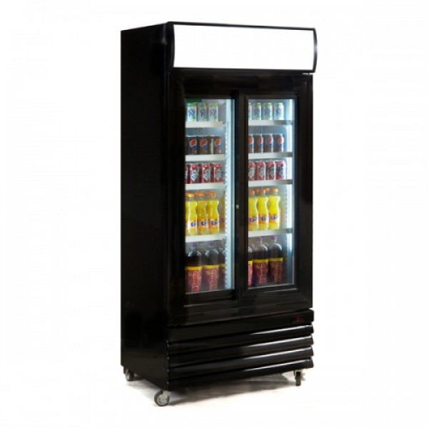 Genfrost GBU1000S Double Door Upright Display Cooler