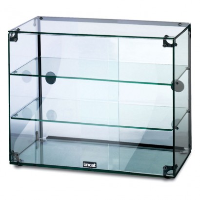 Lincat GC36D 3 Tier 0.6m Glass Display Case with Rear Sliding Doors