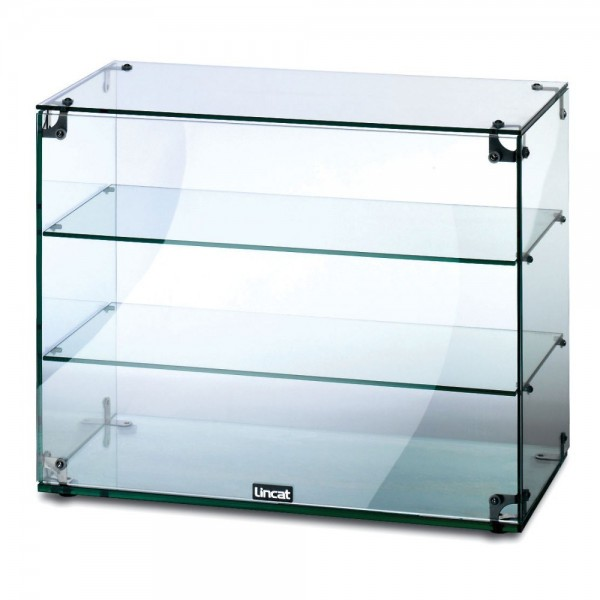 Lincat GC36 3 Tier 0.6m Glass Display Case With Open Back