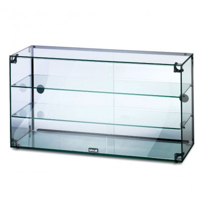 Lincat GC39D 3 Tier 0.9m Glass Display Case with Rear Sliding Doors