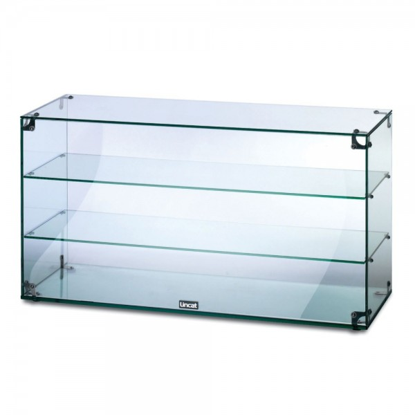 Lincat GC39 3 Tier 0.9m Glass Display Case With Open Back