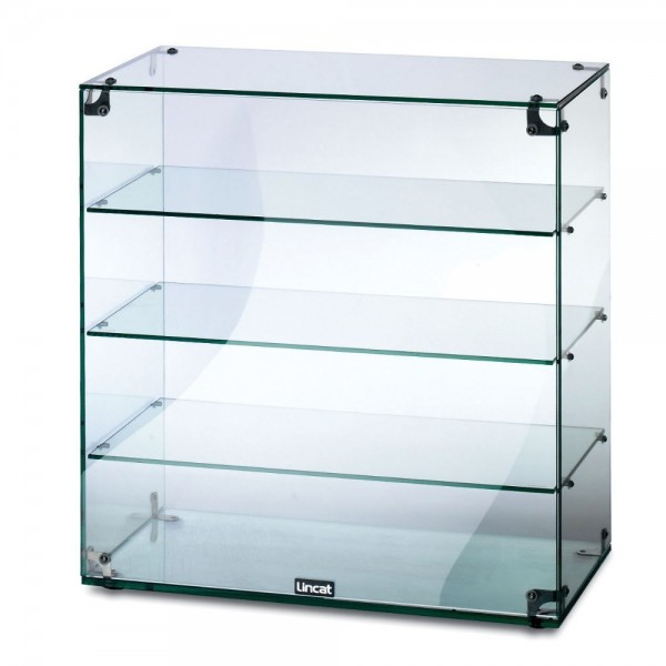 Lincat GC46 0.6m 3 Tier Glass Display Case With Open Back