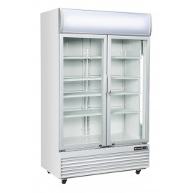 Blizzard GD1000 Double Hinged Door Refrigerated Merchandiser