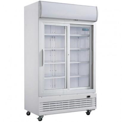 Polar GE581 Double Door Display Cooler with Sliding Doors