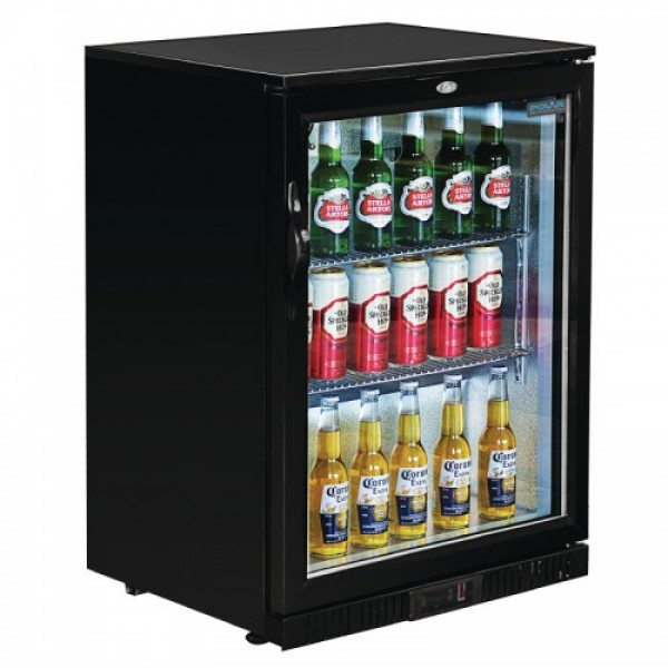 Polar GL011 Single Door Back Bar Cooler Black