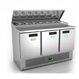 Genfrost GPZ300 3 Door Prep Counter