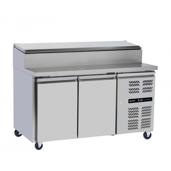 Blizzard HBC2EN 2 Door Refrigerated Prep Counter