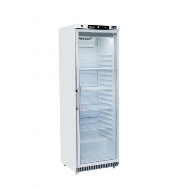 Blizzard HG400WH Glass Door Refrigerator