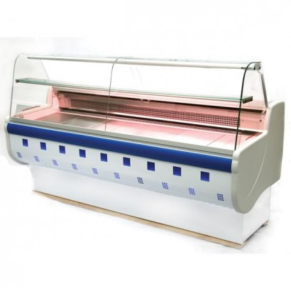 Igloo Monica MON100 1m Slimline Curved Glass Serve Over Counter