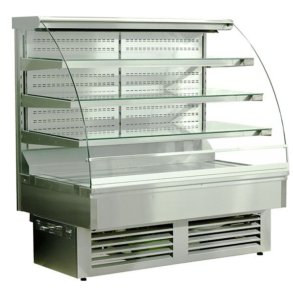 Igloo Jamaica JA60WS OPEN 0.6m Stainless Steel Open Front Pastry Case