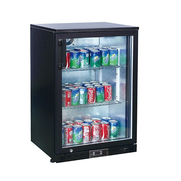 Kool NRLB-BS130A Black Single Door Bottle Cooler