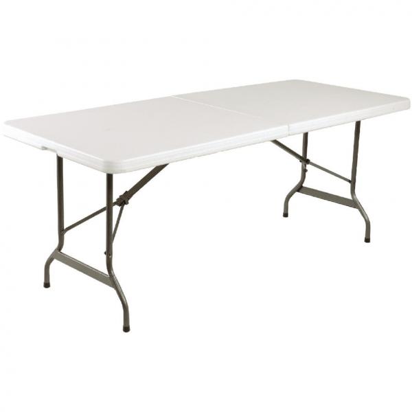Bolero 6ft Centre Folding White Utility Table