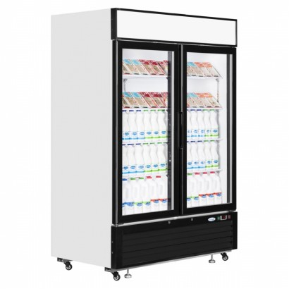 Interlevin LGC5000 1108 Litre Double Glass Door Merchandiser