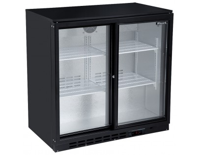 Blizzard LOWBAR2SL Low Height Double Sliding Door Bottle Cooler