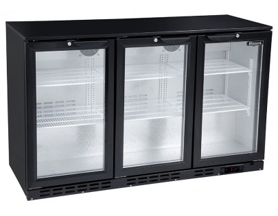 Blizzard LOWBAR3 Low Height Triple Door Bottle Cooler