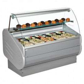 Interlevin Master 100 1m Curved Glass Serve Over Counter