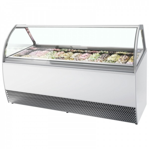 Millennium LX16 16 Pan Ice Cream Display Freezer