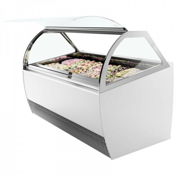 ISA Millennium LX12 12 Pan Scooping Ice Cream Display Freezer