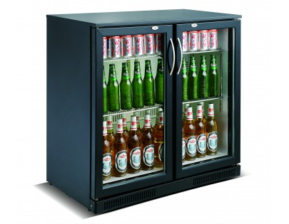 Kool Black Hinged Double Door Bottle Cooler