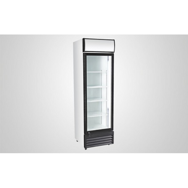 Kool UD400ALC Single Door Upright Chiller with Light Canopy