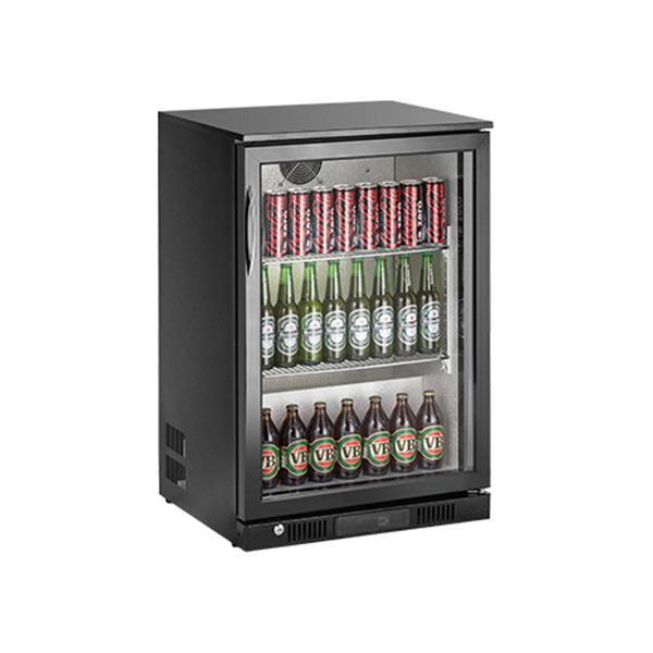 Kool NRLB-BS130A Black Single Door Bottle Cooler