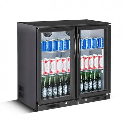 Kool Black Hinged Double Door Bottle Cooler
