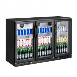 Kool Black Hinged Triple Door Bottle Cooler