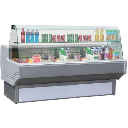Blizzard SHAD250 2.5m Curved Glass Serve Over Counter