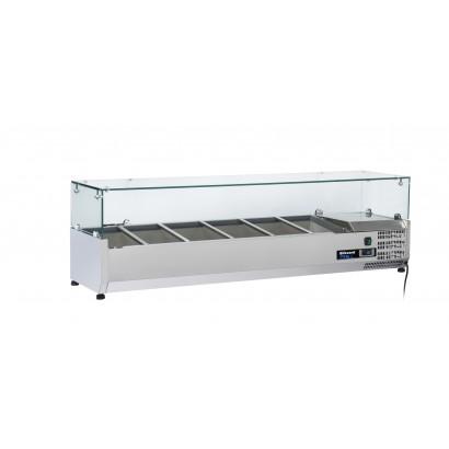 Blizzard TOP1200CR 1.2m Glass Canopy Counter Top Preparation Unit