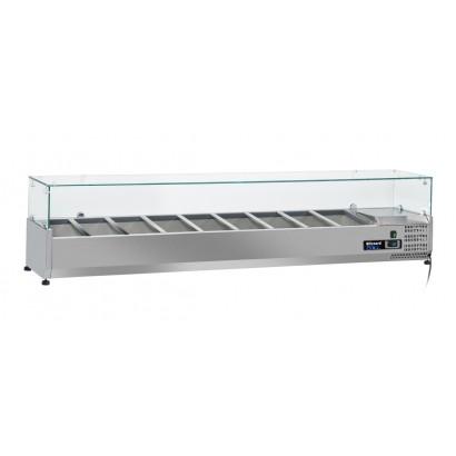 Blizzard TOP2000CR Glass Canopy 2.0m Counter Top Preparation Unit