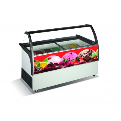 Crystal Venus Elegante 36 9 Pan Ice Cream Display Freezer