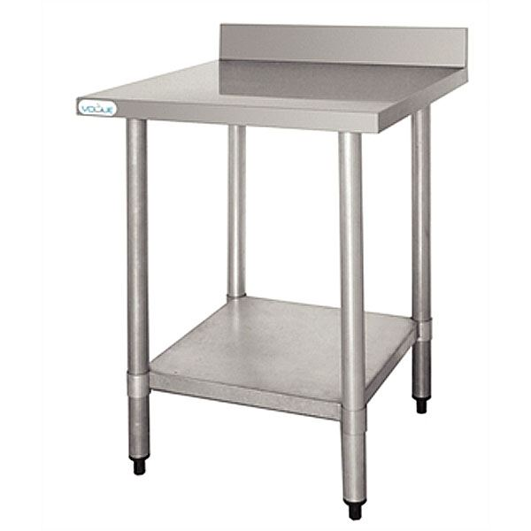 Vogue T380 Stainless Steel W900 x D600mm Table with Upstand