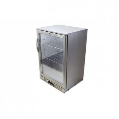Belmont BC6007G Silver Single Door Back Bar Bottle Cooler