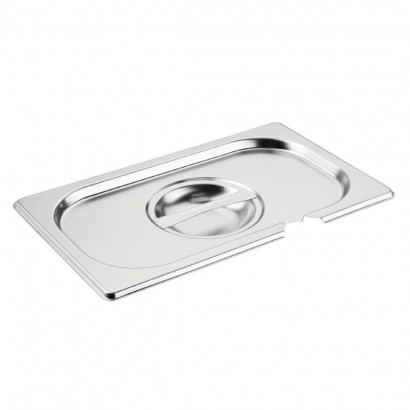 Vogue Stainless Steel 1/4 Gastronorm Pan Notched Lid