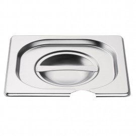 Vogue Stainless Steel 1/6 Gastronorm Pan Notched Lid