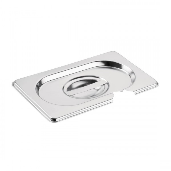 Vogue Stainless Steel 1/9 Gastronorm Pan Notched Lid