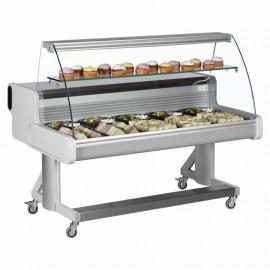 Frilixa Celebrity 200 2.0m Curved Glass Mobile Counter Display