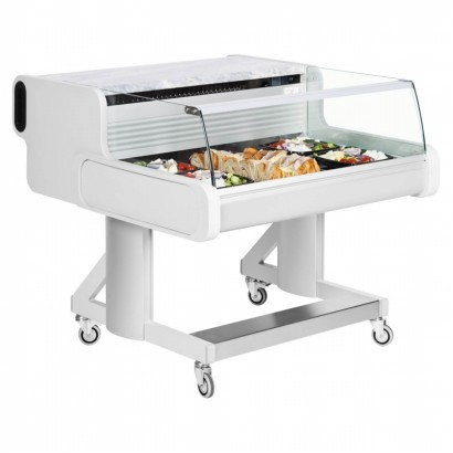 Frilixa Celebrity 100 1m Low Glass Mobile Serve Over Counter